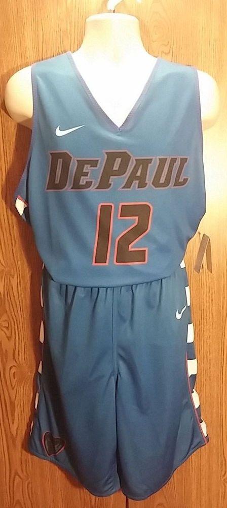 4e330f4b9dd31 Depaul Blue Devils Practice Large Mens Jersey Shorts Reversible  12 ...