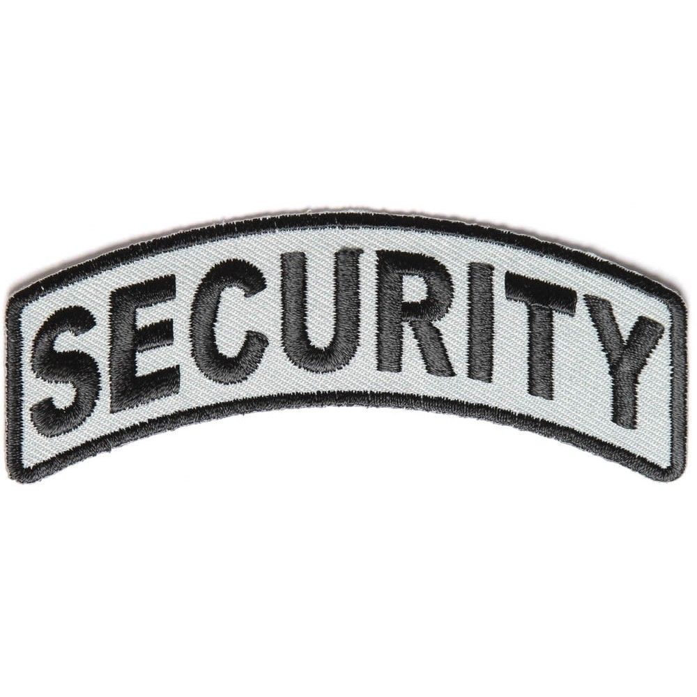 BRAND NEW SECURITY BIKER IRON ON PATCH