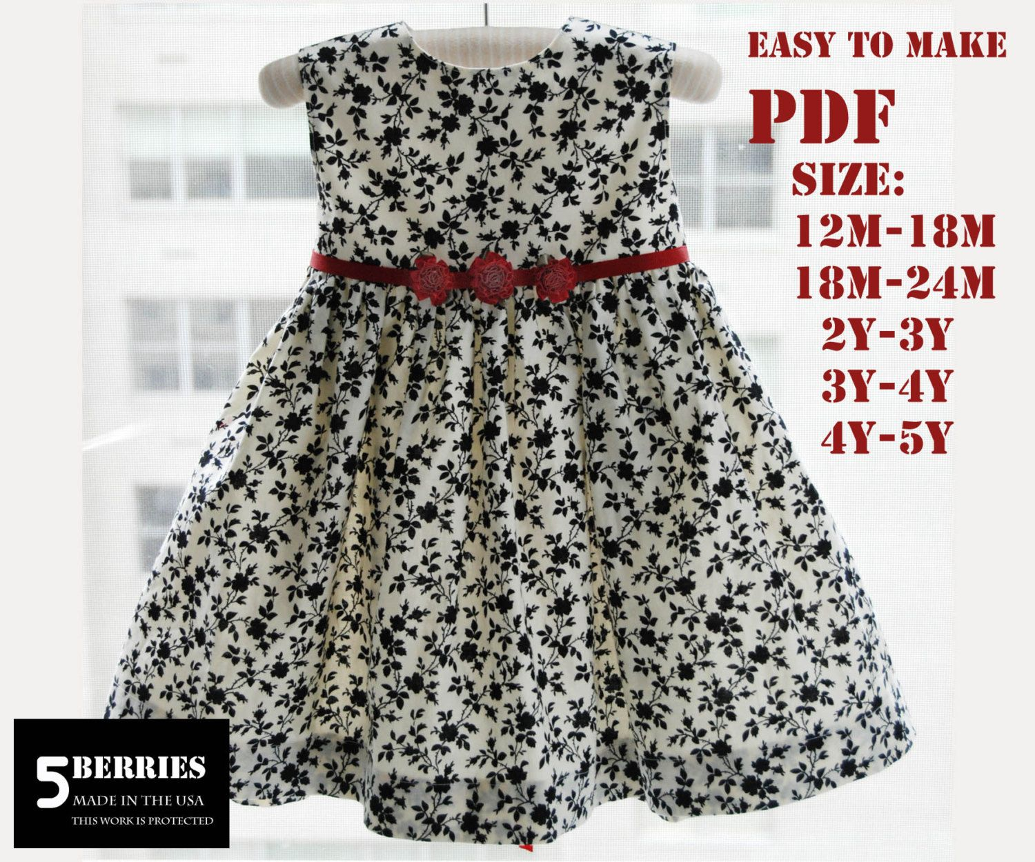 Free Pattern Sunny Day Toddler Dress 2T-4T | Children's Sewing ...