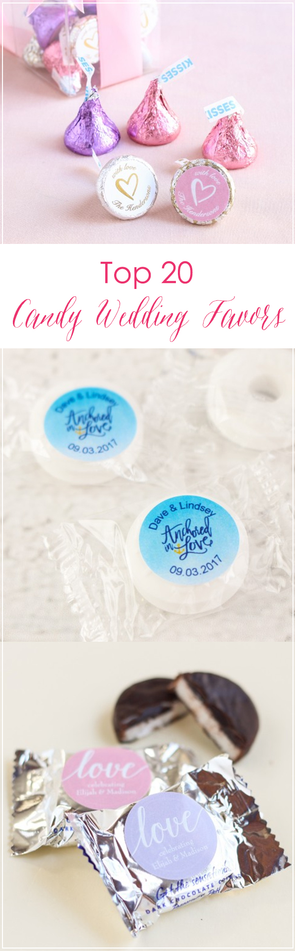 Find the best candy for your wedding favors! From personalized mints ...