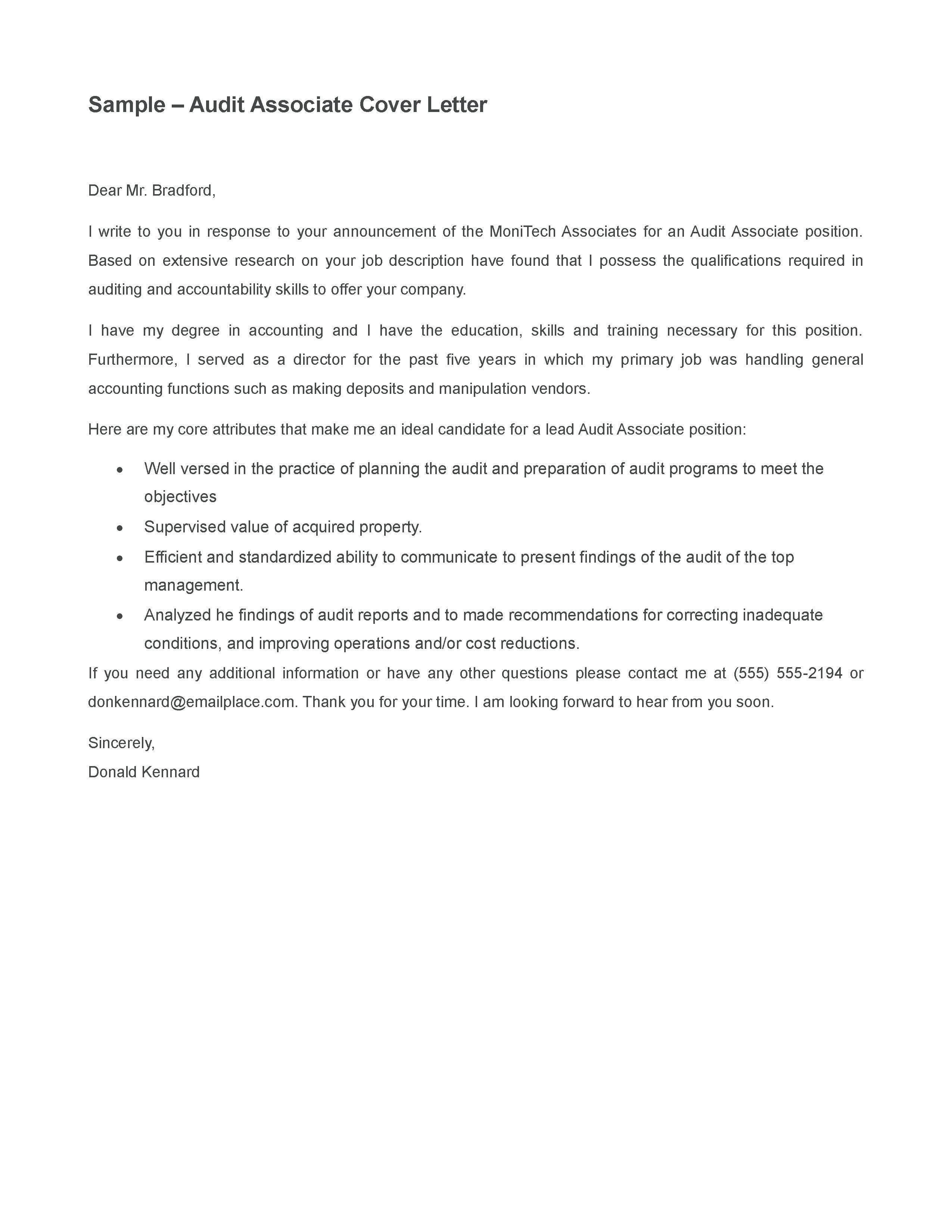 27+ Audit Cover Letter . Audit Cover Letter Audit Report Cover ...