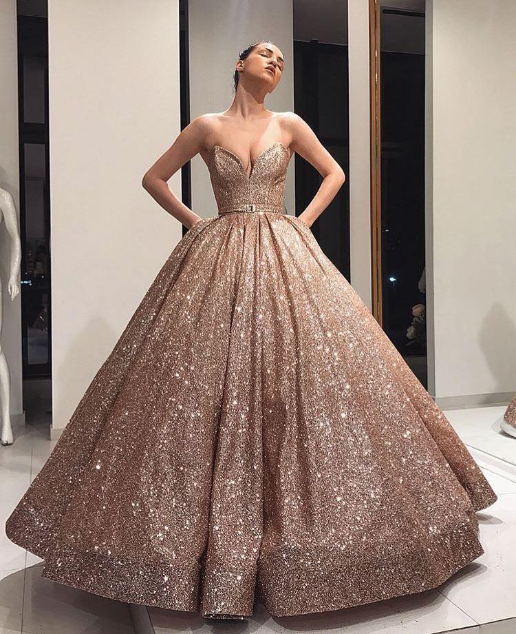 Super glitter wedding gown like twinkle stars ✨✨ | Wedding Dresses ...