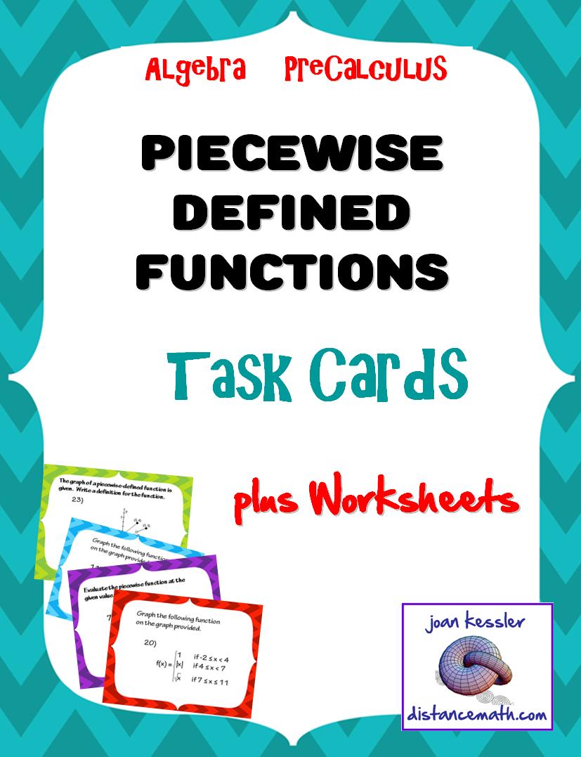 Piecewise Functions Task Cards Plus Hw Or Quiz Teaching Algebra Algebra Precalculus [ 1077 x 827 Pixel ]