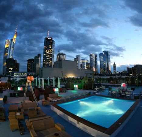 Pool Frankfurt island lounge in frankfurt amazing outdoor bar with pool and