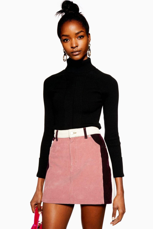 eaa9f6d5e Jupe en velours côtelé color block - Nouveautés mode - Nouveautés - Topshop.  Colour Block Corduroy Skirt ...