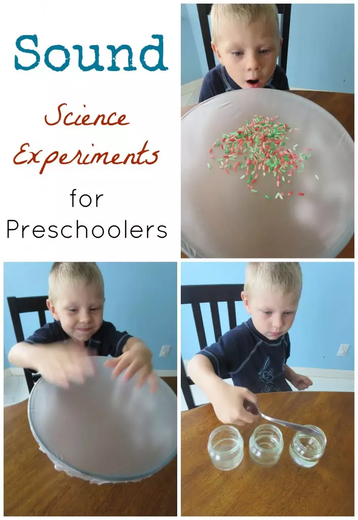 Sound Science Experiments for Preschoolers #scienceexperimentsforpreschoolers