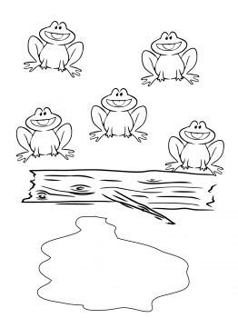 Five Green And Speckled Frogs Speckled Frogs Colouring Pages