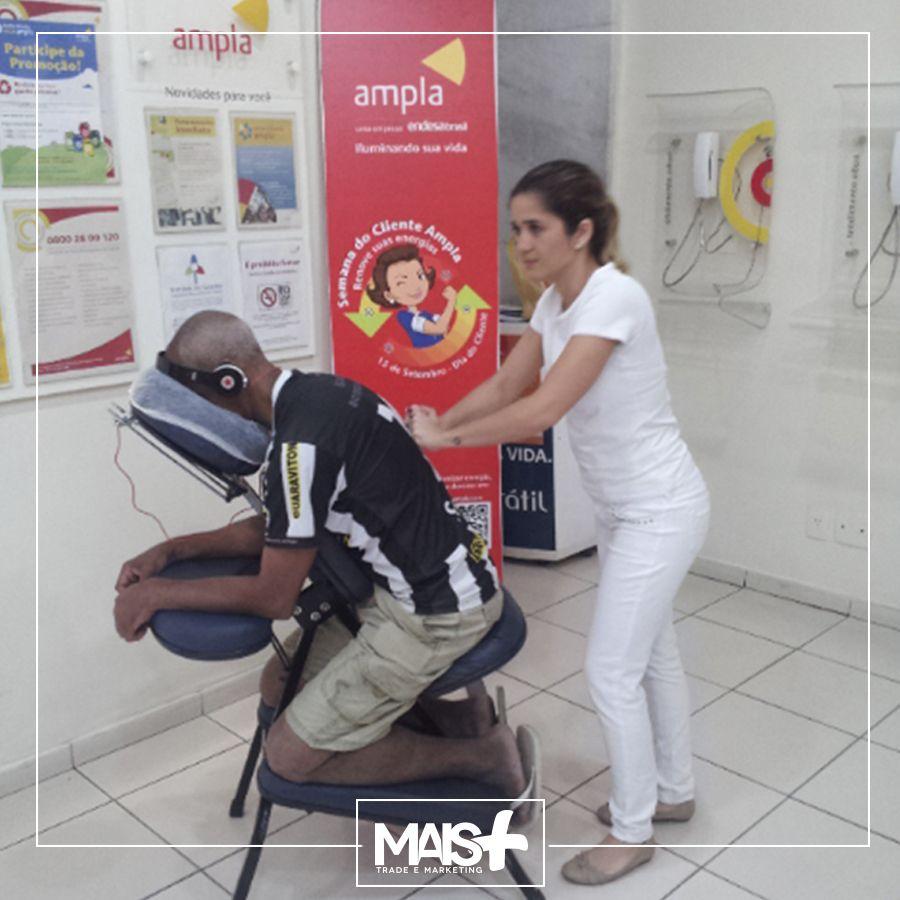 Ação do dia do cliente que os contemplavam com uma deliciosa massagem!!!