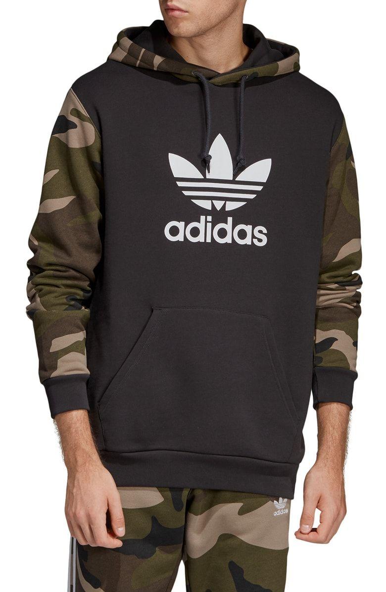Adidas Originals Camo Hooded Sweatshirt Nordstrom Sweatshirts Hooded Sweatshirts Hooded Sweatshirt Men [ 1196 x 780 Pixel ]