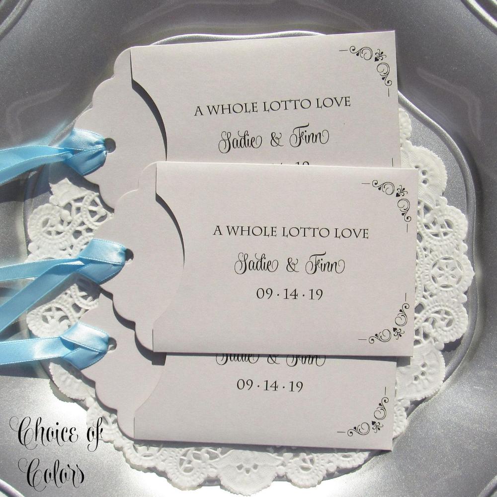 Wedding Guest Favors - Wedding Lottery Ticket - Wedding Favors - Rehearsal Dinner Favors - Lottery Ticket Favors - Unique Wedding Favors