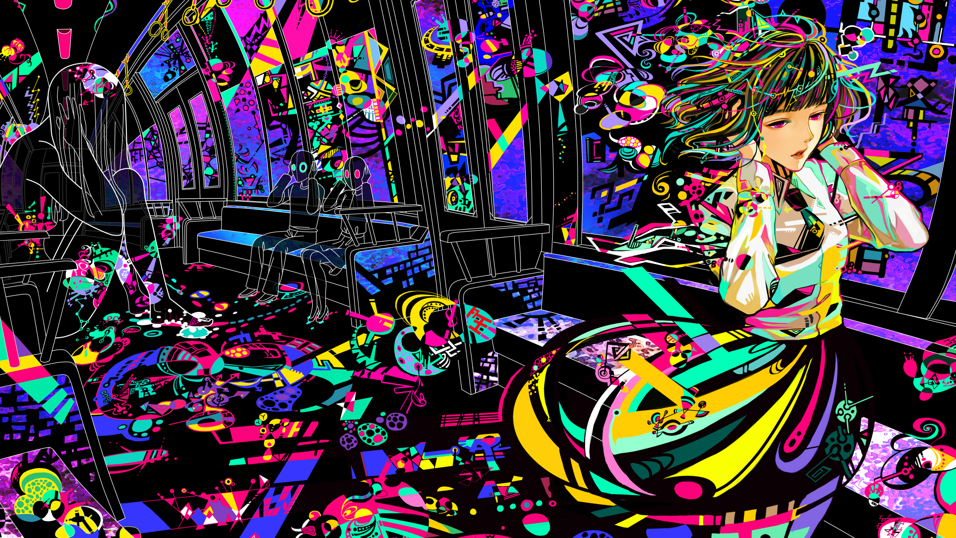 Anime Wall Dump Trippy Wallpaper Trippy Backgrounds Posters