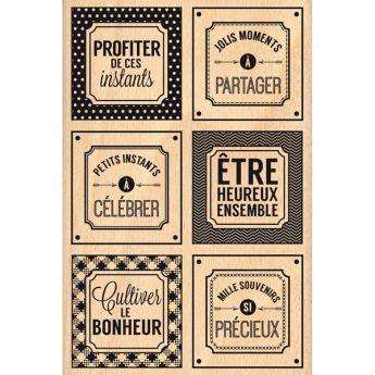 Tampon bois instants si pr cieux etiquettes pinterest - Fait maison en anglais ...