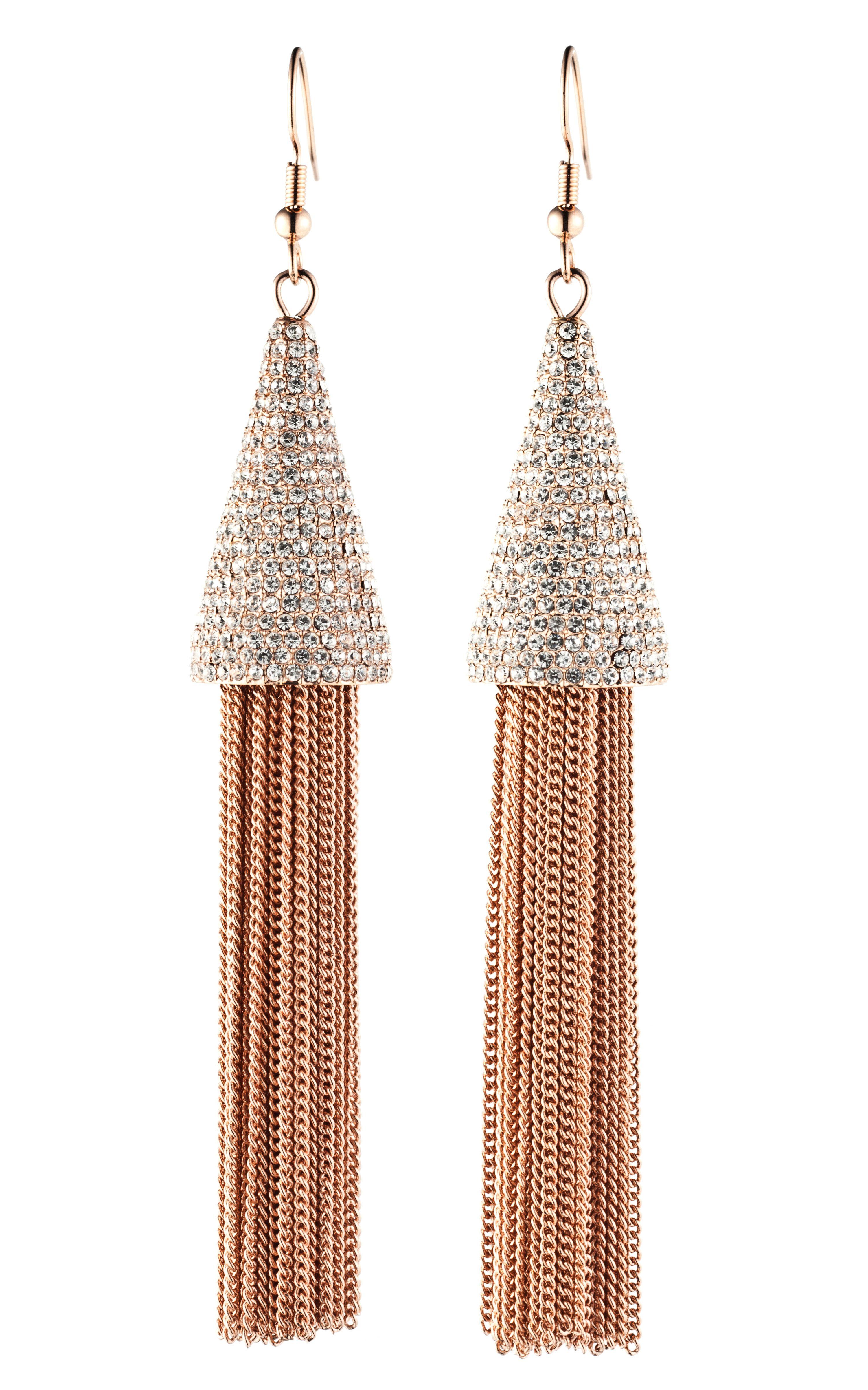 Eddie Borgo Pavé Cone Tassel Earrings