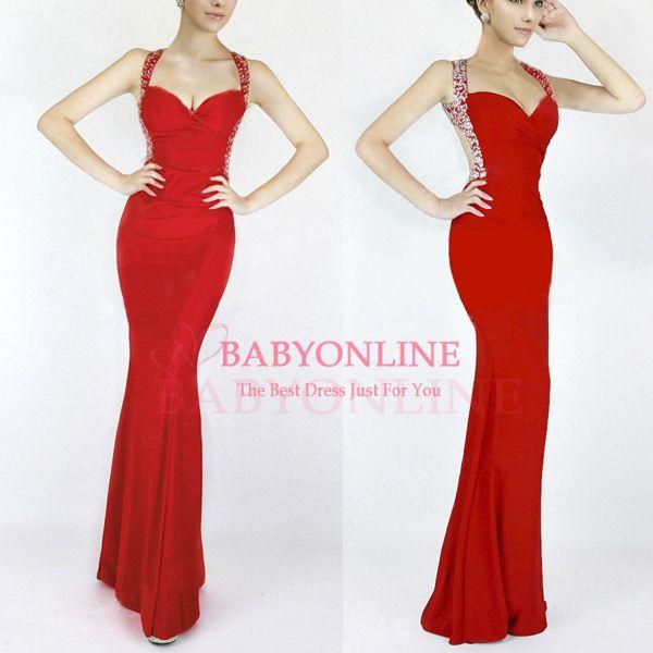 Cheap Red Long Dress