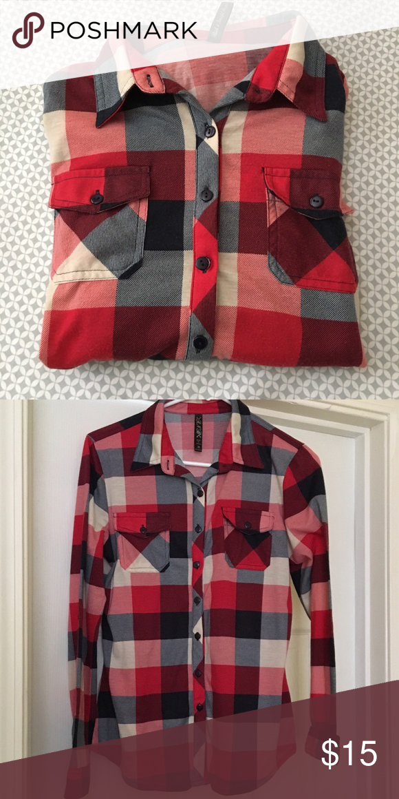 RNB flannel Super cute well fitted lightweight flannel RNB Tops Button Down Shirts
