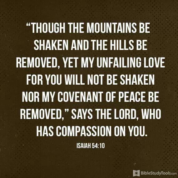 We will not be shaken!