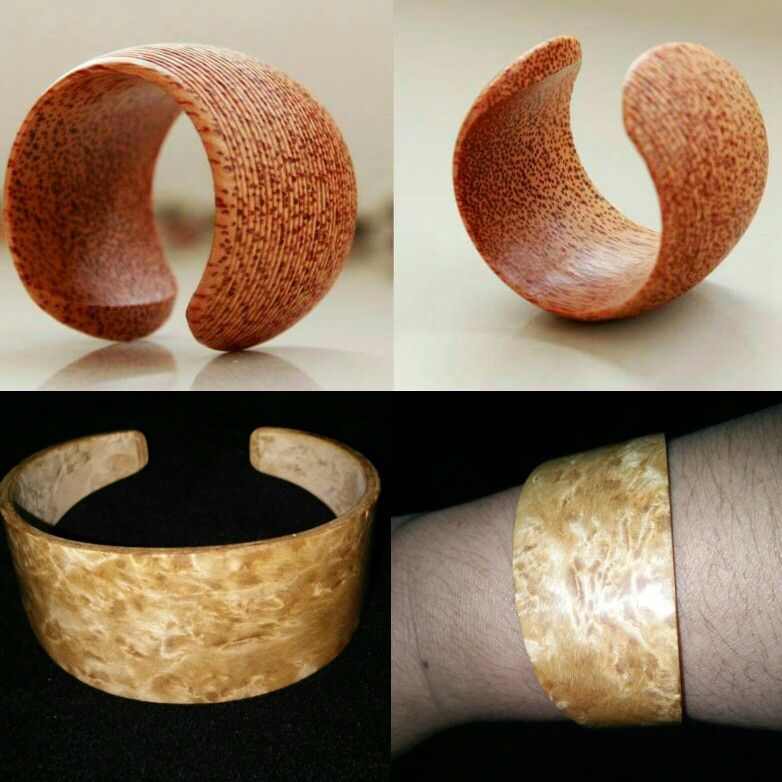 Stylish Veneered Bangle Cuff made from laminated thin wood veneers. Lightweight cuff in different exotic veneer color to give your outfit a natural earth tone in soft and smooth satin matte finsih. One Size fits all it can slip over the wrist.