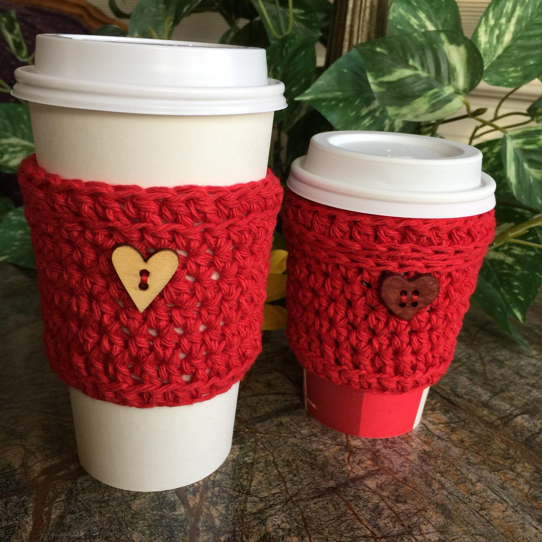 Crochet cup cozy coffee sleeve togo sleeve coffee cozy