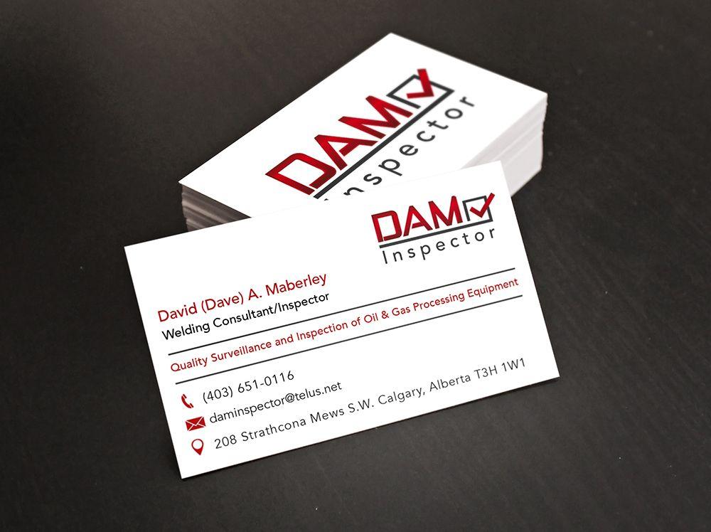 Business Card Design For A Calgary Oil Gas Inspection Company Digital Lion Business Card Design Company Business Cards Card Design