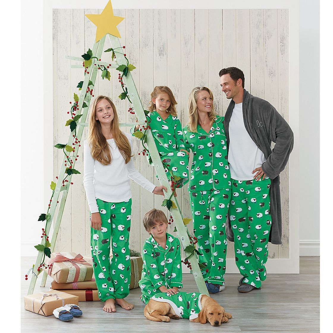 Festive Plaid Flannel Matching Family Pajamas & Sleepwear
