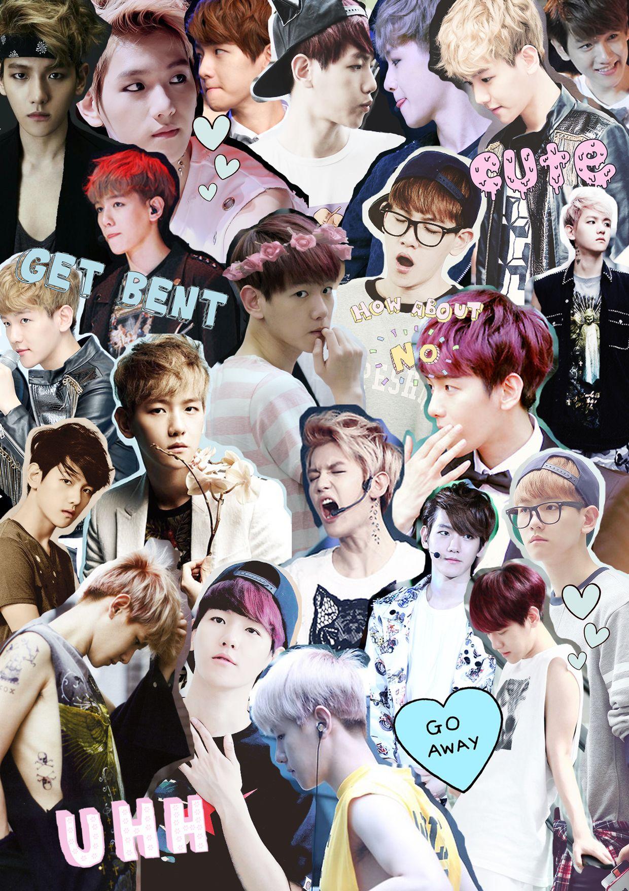 baekhyun exo collage wallpapers walls