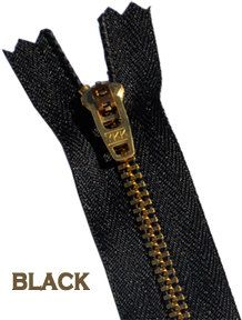 Doll Zippers By YKK 2 Inch WHOLESALE Black 50 Zippers YKK Wholesale pricing