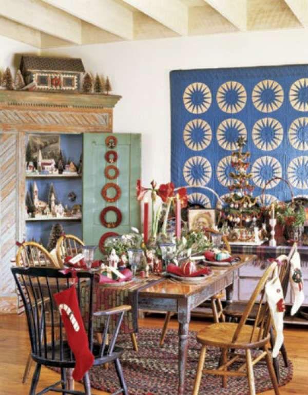 une decoration antique avec des meubles chines 25 superbes tables decorees pour le repas de noel
