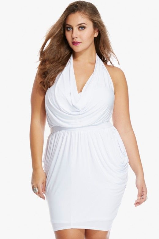 Ophelia Draped Halter Dress 4490 Elegantly draped at the