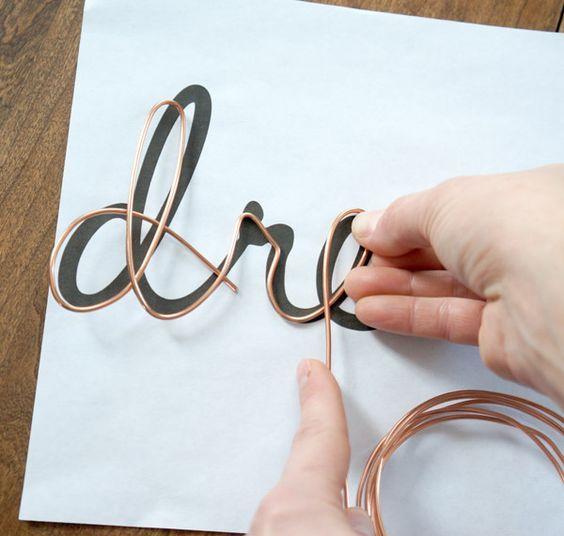 DIY Wire Word Art