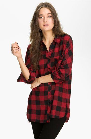 Trouvé Buffalo Plaid Shirt | Nordstrom  love it!!!!!!!!!!!!