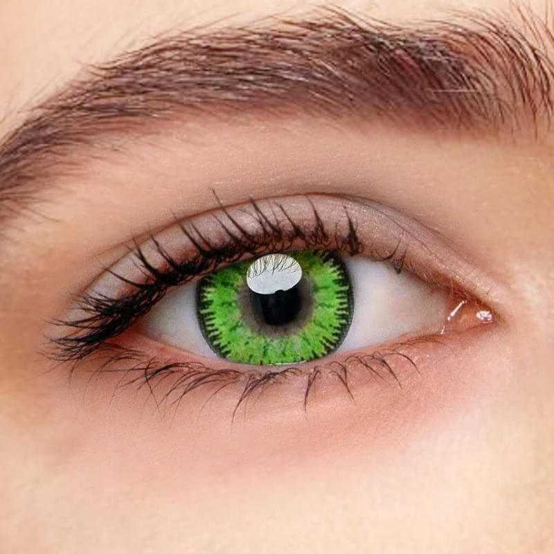 Mystery Green Prescription Yearly Colored Contacts Beauty Eyes Store Coloured Prescription Contact Lenses Prescription Contact Lenses Green Contacts Lenses