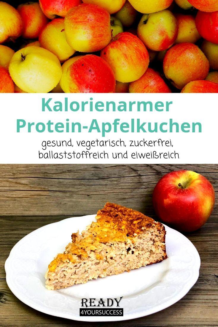 Kalorienarmer Protein-Apfelkuchen