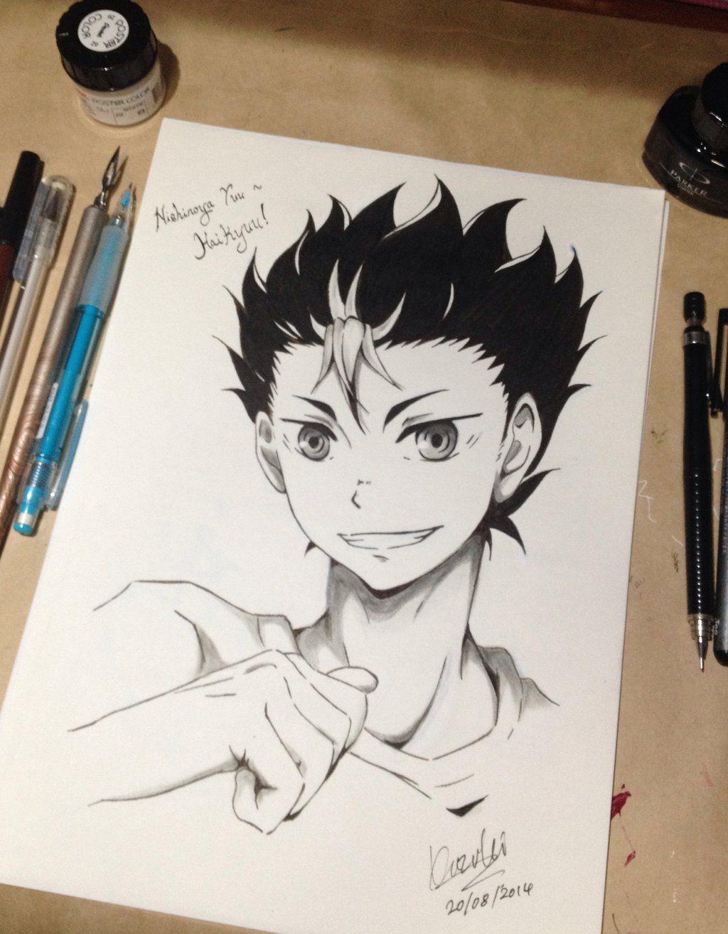Haikyuu Nishinoya Yuu Fan Art Haikyuu Anime Anime Sketch Anime Boy Sketch