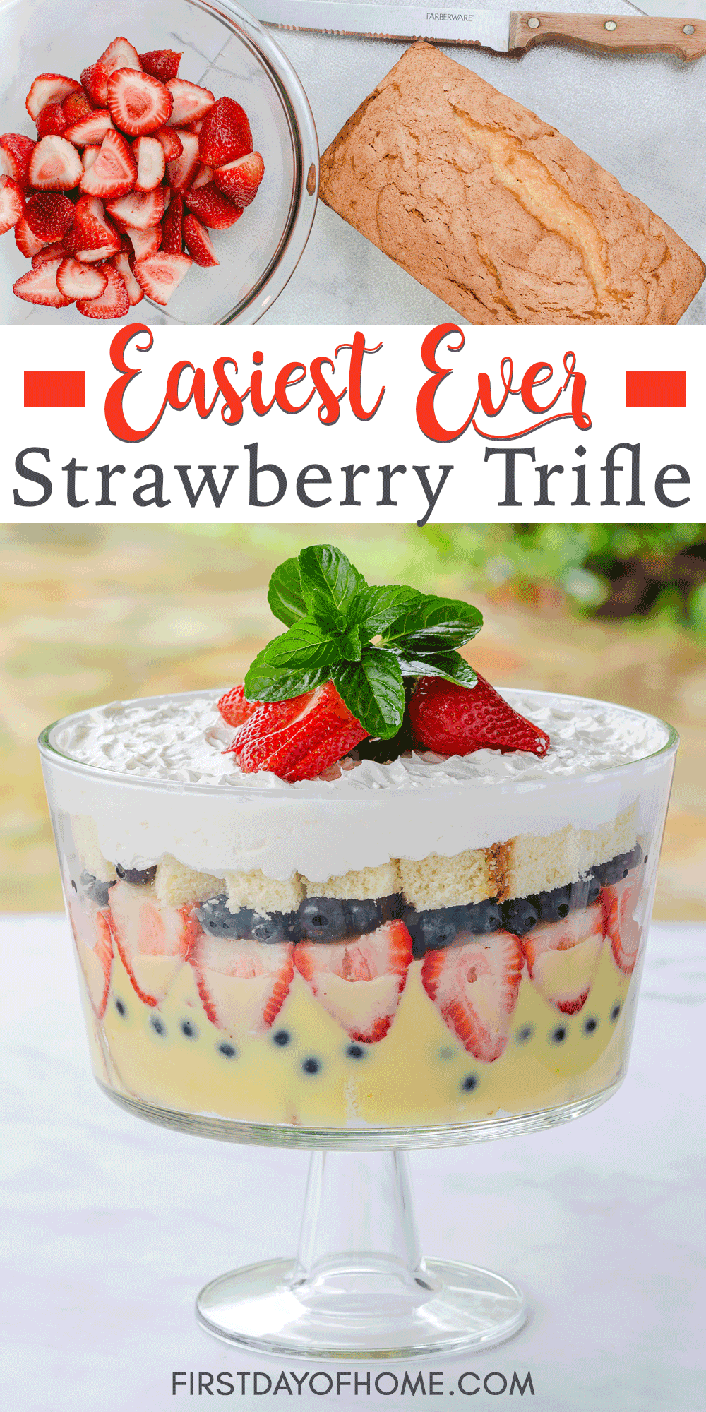 Quick & Easy Strawberry Trifle Dessert