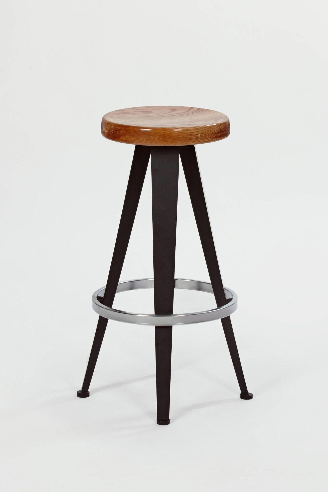 Three Barstools Design By Jean Prouve 1980s Bar Stools Jean