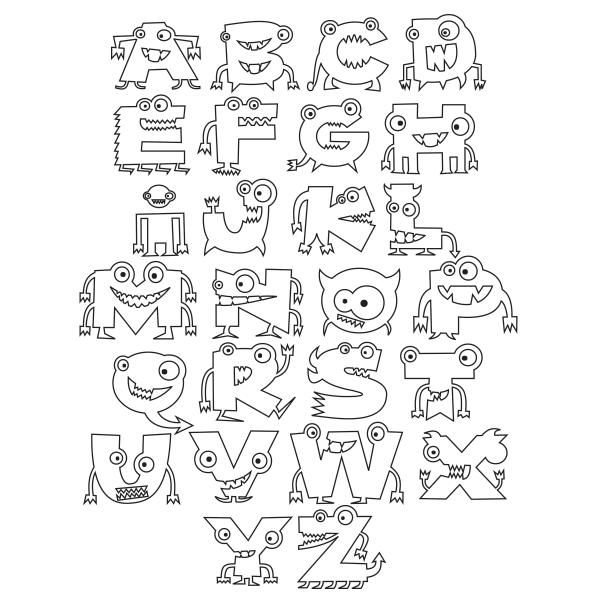 Free Alphabet Monster Printable Free Kids Coloring Pages Free Coloring Pages Monster Coloring Pages