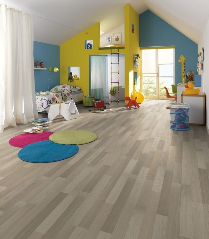 Aalberg Ash Grey Laminate Flooring Used Here For A Child S