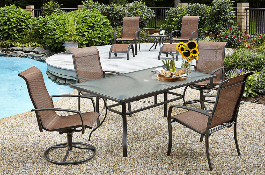 Essential Garden Harley 10 Piece Dining Set Clearance