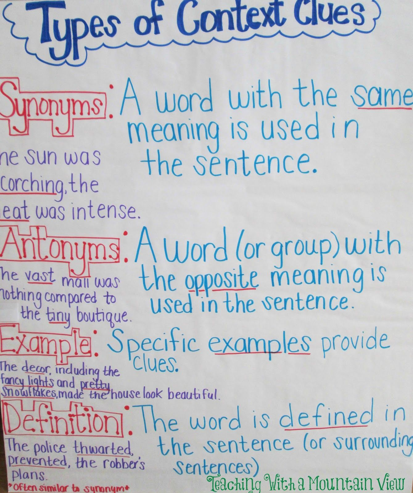 sentence definition and types