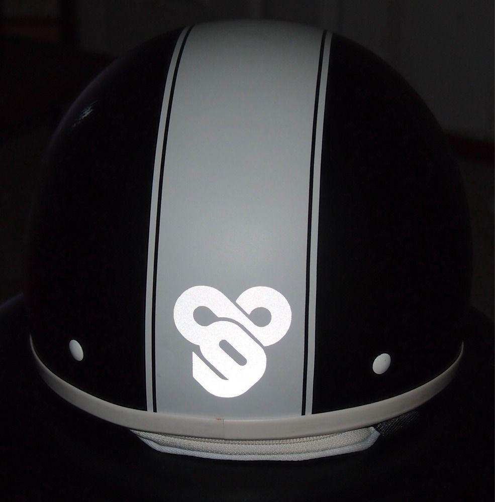Tron Reflective Helmet Decal Helmets And Motorcycle Accessories - Reflective helmet decals