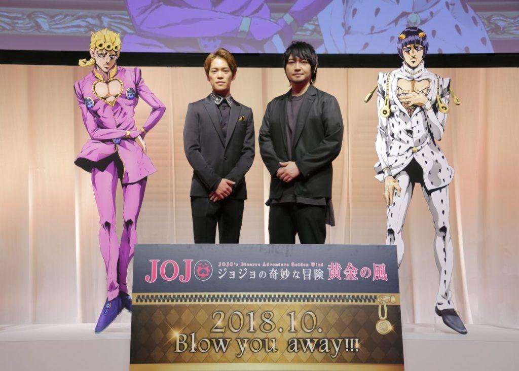 kensho ono giorno and yuichi nakamura bucciarati event for jojo s bizarre adventure golden wind jojo s bizarre adventure jojo bizarre jojo