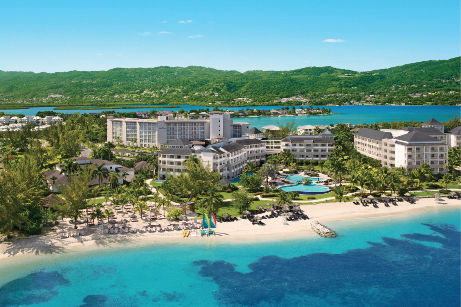 A view from above of the insanely gorgeous Breathless Montego Bay Resort &  Spa. Come party with us in paradise!