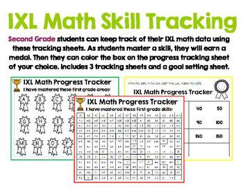 Second Grade Ixl Math Tracking Ixl Math Math Student Data Notebooks