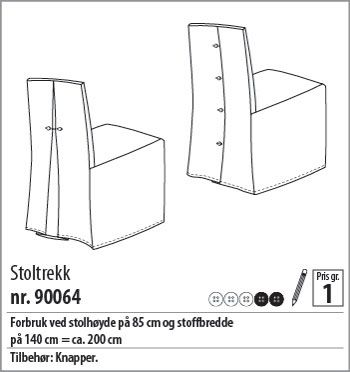 Stoltrekk m/legg eller knapper - 90064 - Stoff & Stil