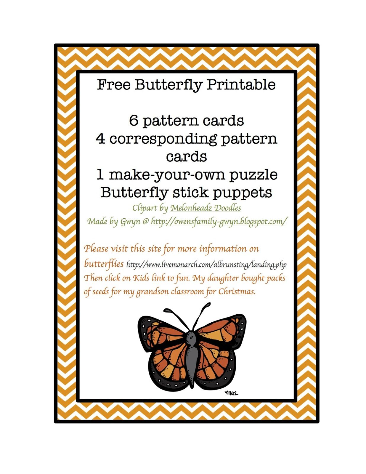 Preschool Printables Free Butterfly Theme