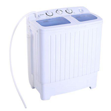 Portable Mini Compact Twin Tub 11lb Washing Machine Washer