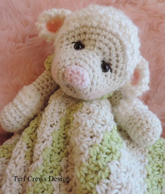 Crochet Pattern Lamb Huggy Blanket Lovey by Teri Crews instant ...