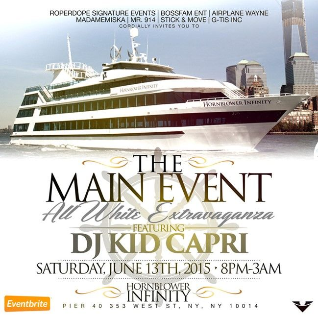 Birthday Party Yacht: The Main Event All White Dinner Cruise Extravaganza