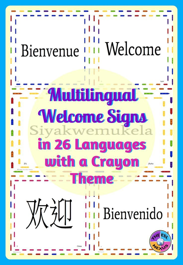 Multilingual Welcome Posters For Classroom Decor Crayon Theme - teacher welcome back letter
