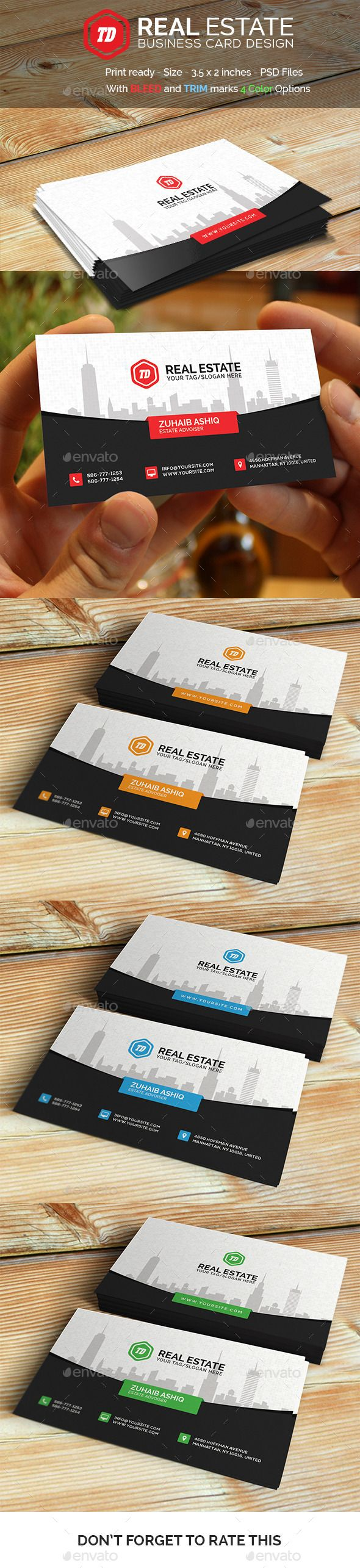 Real Estate - Business Card | Real estate business cards, Real ...